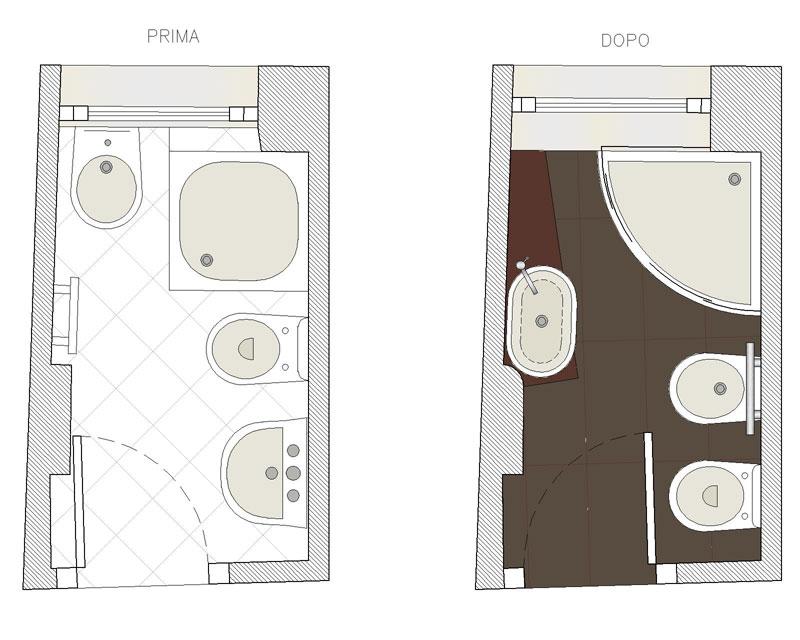 Bagno neri parenti cinzia vitale studio di architettura - Progetto bagno 2x2 ...